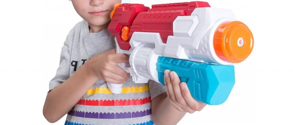 MOZOOSON Pistolet à Eau Puissant Haute Capacité et Longue Distance pour...