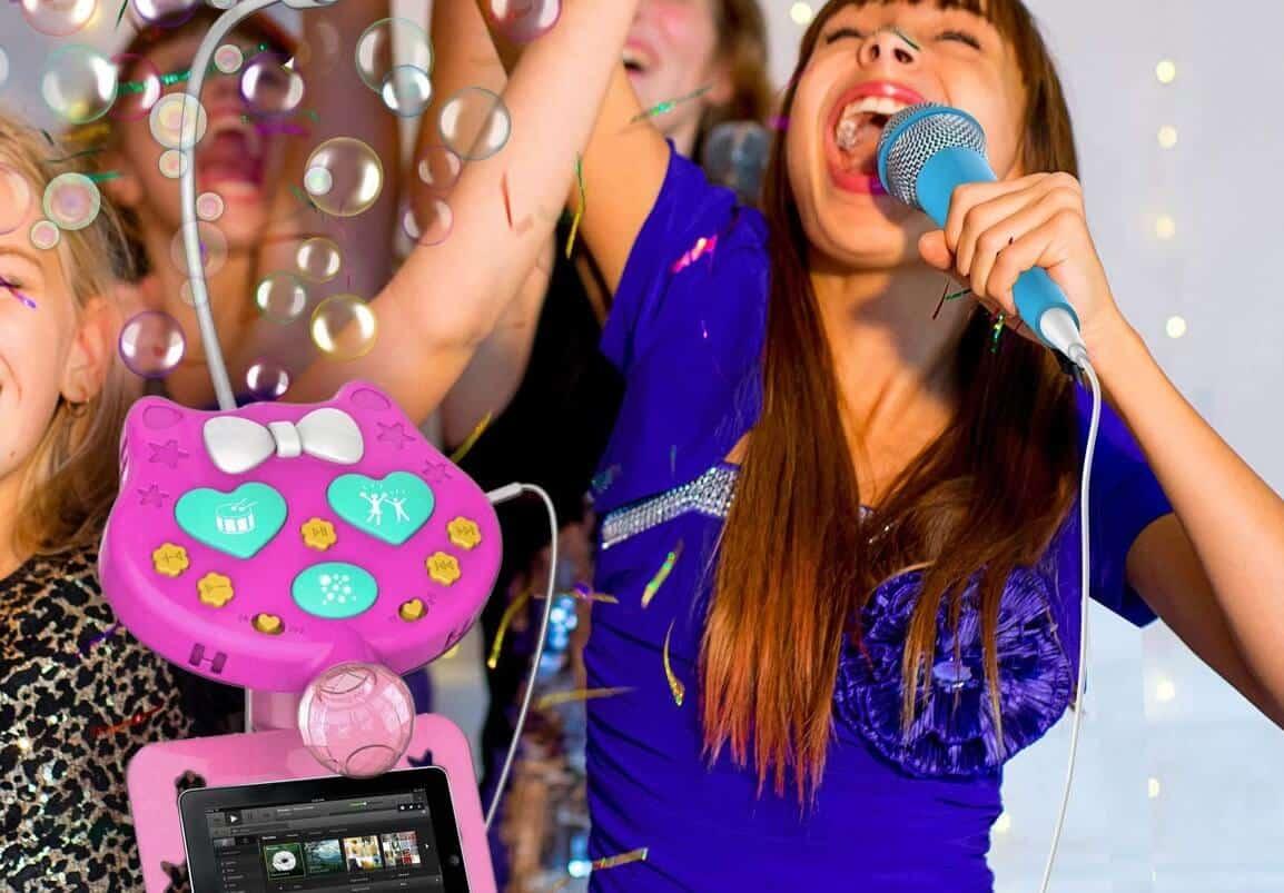 ColiCor Microphone sur Pied Enfant avec Rock Guitare Electrique,Micro Enfant pour Chanter Id/éal pour Enfant