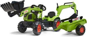 tracteur tractopelle avec remorque pour enfant
