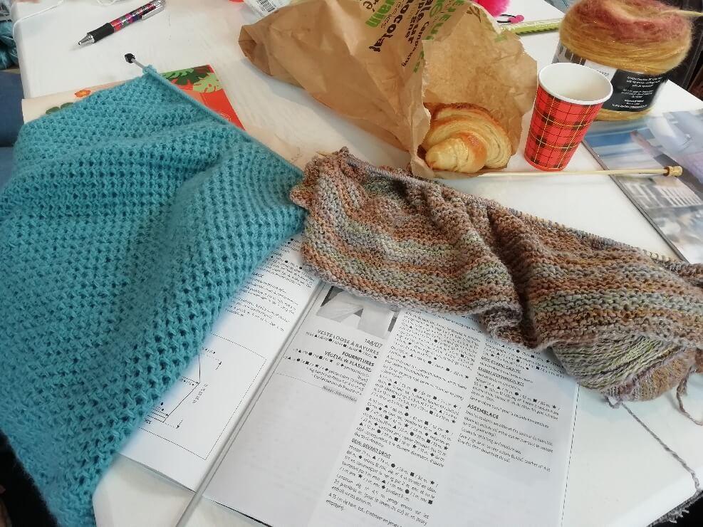 atelier tricot dans les Vosges