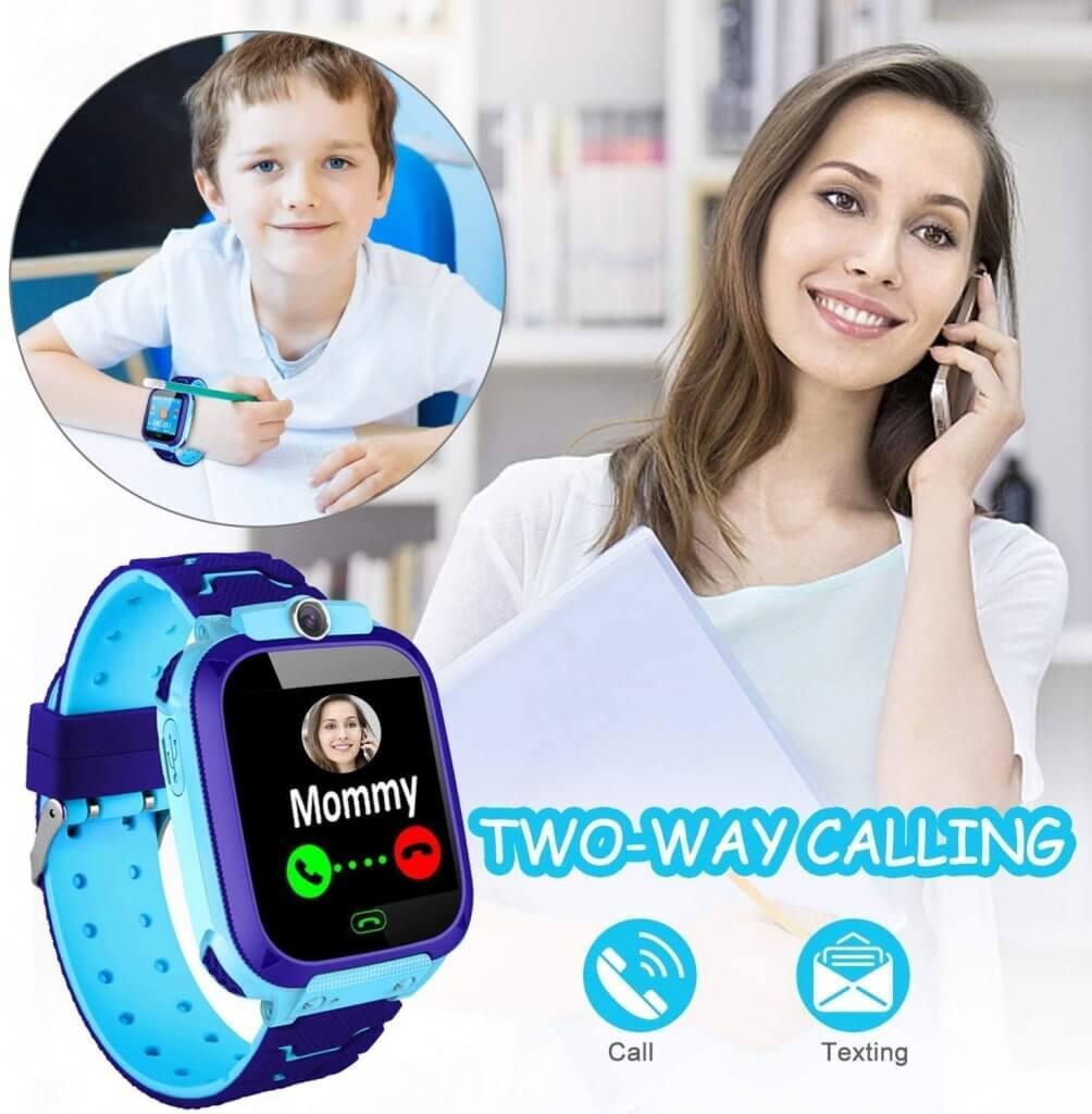 montre avec appels aux parents