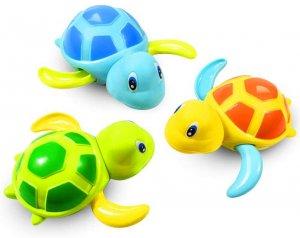 tortues en jouet de bain